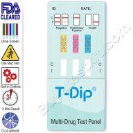 3 panel drug test dip card