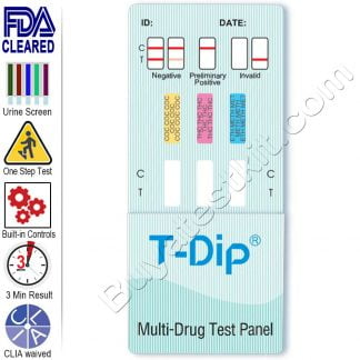 3 panel drug test dip card