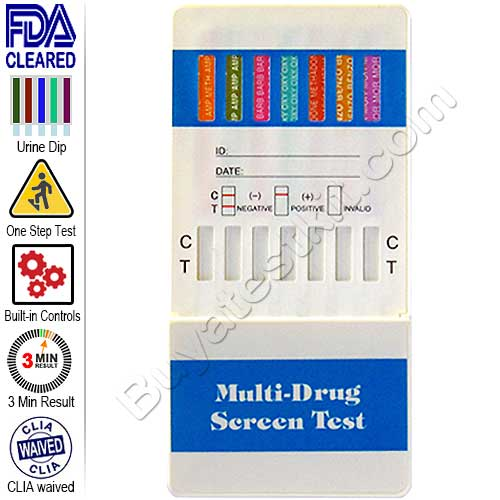 Rapid Urine 12 Panel Drug Test Kit for Drugs of Abuse