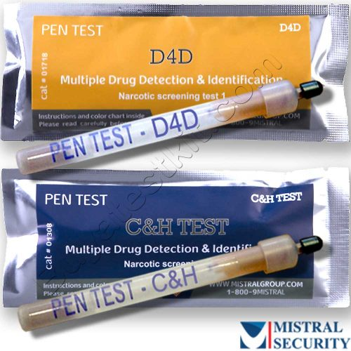 Surface drug testing kits