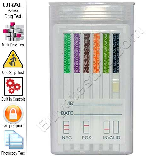 6 Panel Oral Drug Test Kit – Screens 6 Illicit Drugs – NEW LOW PRICE!