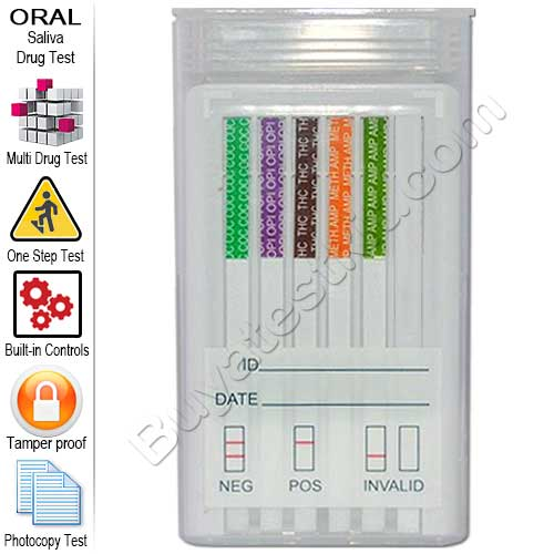 5 Panel Oral Drug Test Kit – Detects Illicit Drugs from Saliva