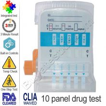 10 panel EZ split drug test