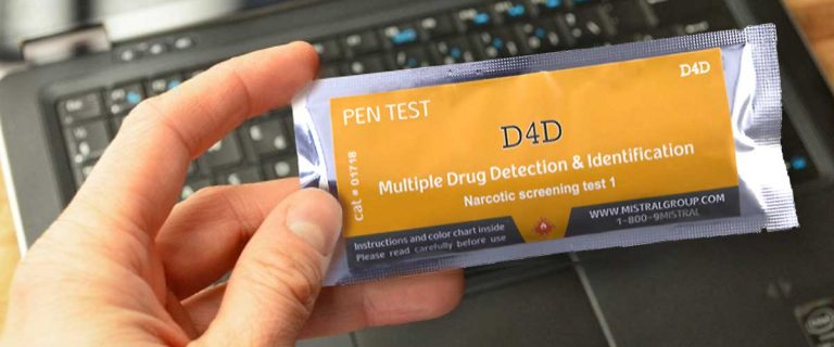 Drug Residue Test for Detecting and Identifying  Drugs of Abuse
