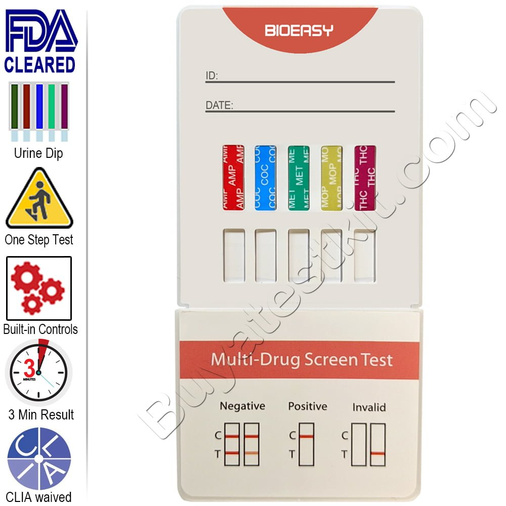 5 Panel Urine Drug Test Kit – Instant Drug Screen