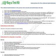 Instructions for drug testing