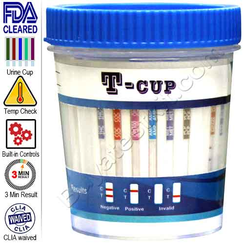 All-In-One Drugs of Abuse 10 Drug Test Cup