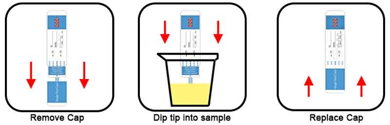 Dip drug test kits