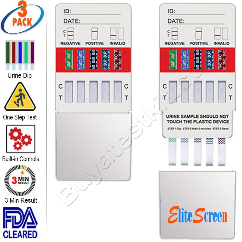 Clarity 10 panel rapid drug test kit ( 3 pack )