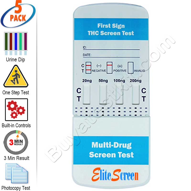 Multi-Level Marijuana Rapid Drug Test Kit – ( 5 pack )